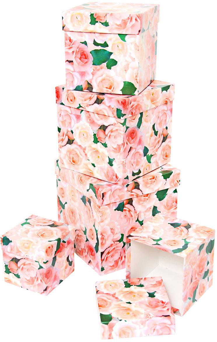 Набор подарочных коробок Veld-Co Нежные розы, кубы, 5 шт набор подарочных коробок veld co нежные розы кубы 5 шт