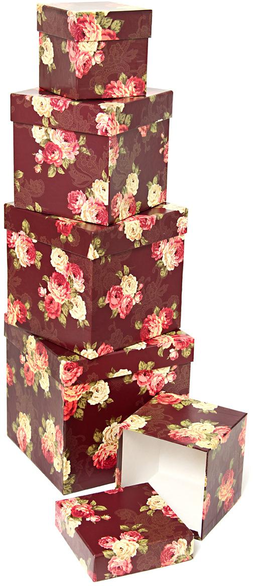 Набор подарочных коробок Veld-Co Цветочный принт, кубы, 5 шт набор подарочных коробок veld co миром правит доброта 15 шт