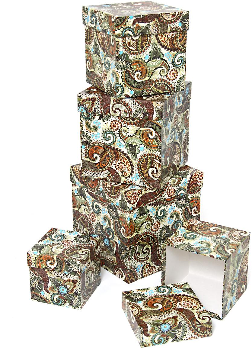 Набор подарочных коробок Veld-Co Персидские огурцы, кубы, 5 шт набор подарочных коробок veld co морская тематика прямоугольные 5 шт