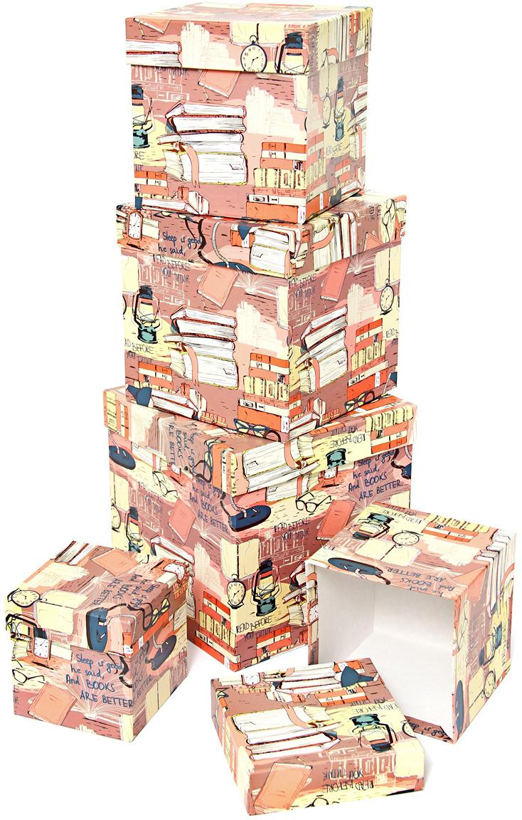 Набор подарочных коробок Veld-Co Библиотека, кубы, 5 шт veld co набор инструментов 43896