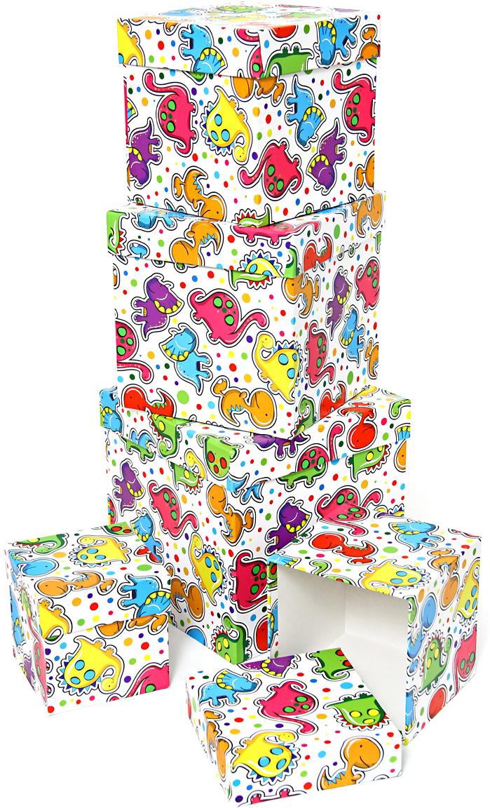 Набор подарочных коробок Veld-Co Динозаврики, кубы, 5 шт veld co набор инструментов 43896