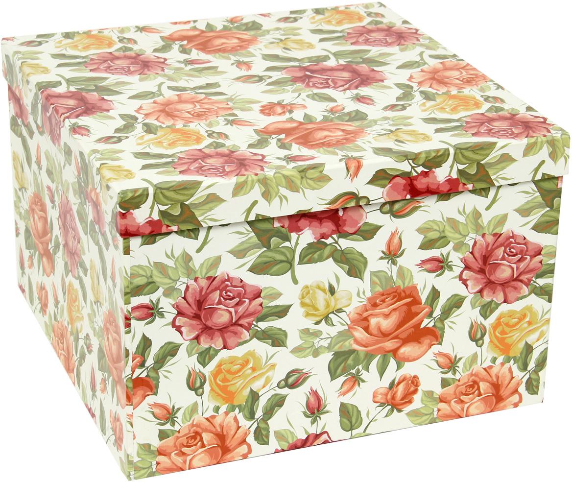 Набор подарочных коробок Veld-Co Цветущие розы, кубы, 5 шт набор подарочных коробок veld co горошек с бантиком кубы 3 шт