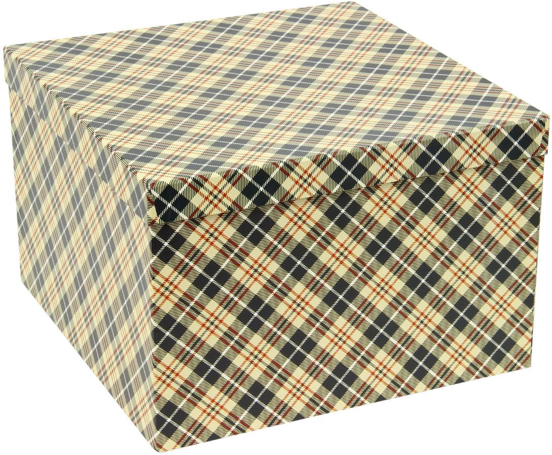 Набор подарочных коробок Veld-Co Классическая клетка, кубы, 5 шт набор подарочных коробок veld co горошек с бантиком кубы 3 шт