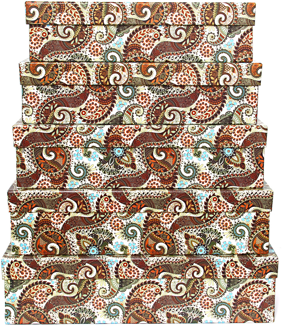 Набор подарочных коробок Veld-Co Персидские огурцы, прямоугольные, большие, 5 шт набор подарочных коробок veld co морская тематика прямоугольные 5 шт