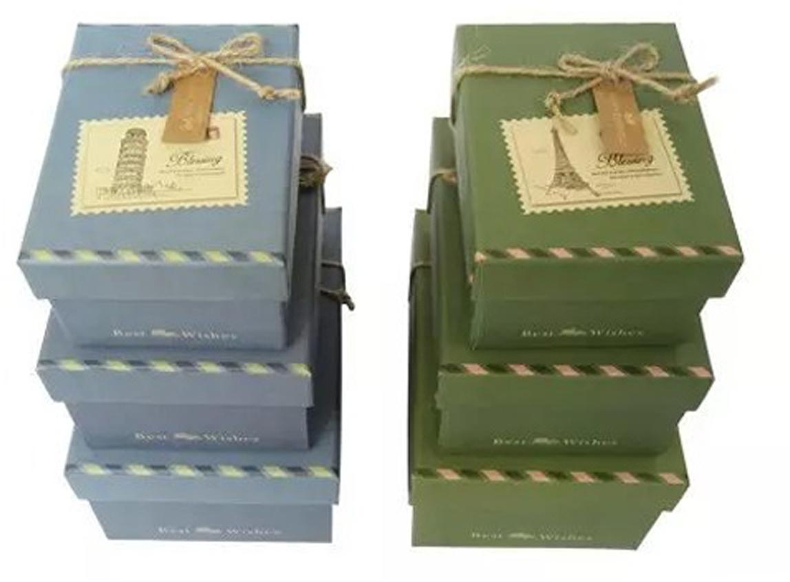 Набор подарочных коробок Veld-Co Сувенир, прямоугольные, 3 шт набор подарочных коробок veld co морская тематика прямоугольные 5 шт