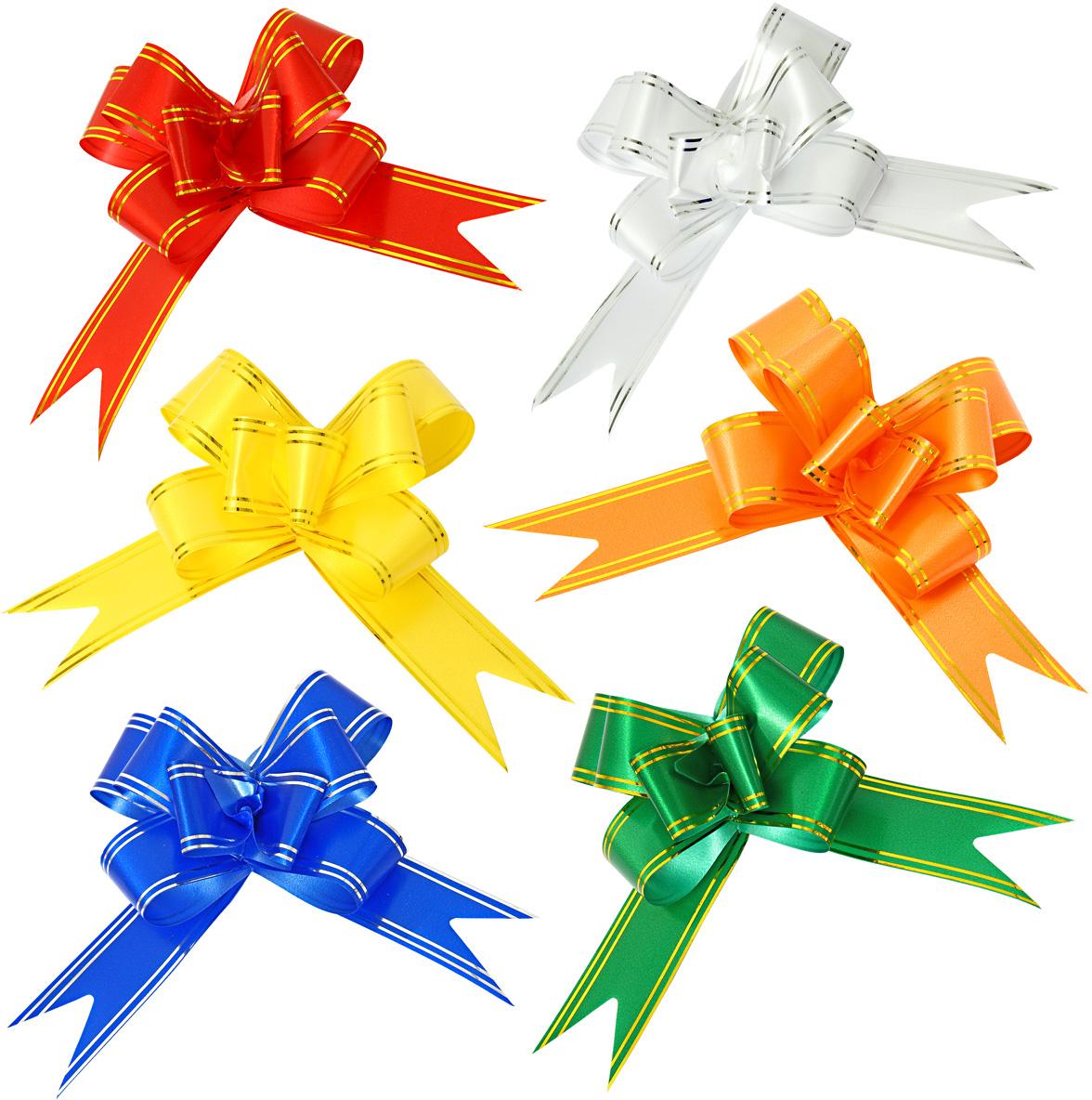 Бант упаковочный Veld-Co Бабочка, цвет: разноцветный, 3 х 50 см набор упаковочных бантиков veld co бабочка цвет синий 3 х 50 см 10 шт