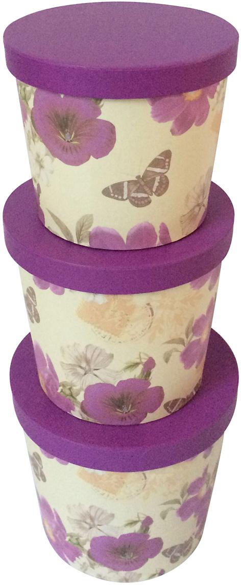 Набор подарочных коробок Veld-Co Фиолетовые, 3 шт набор подарочных коробок veld co шоколад с магнитами цвет светло коричневый 3 шт