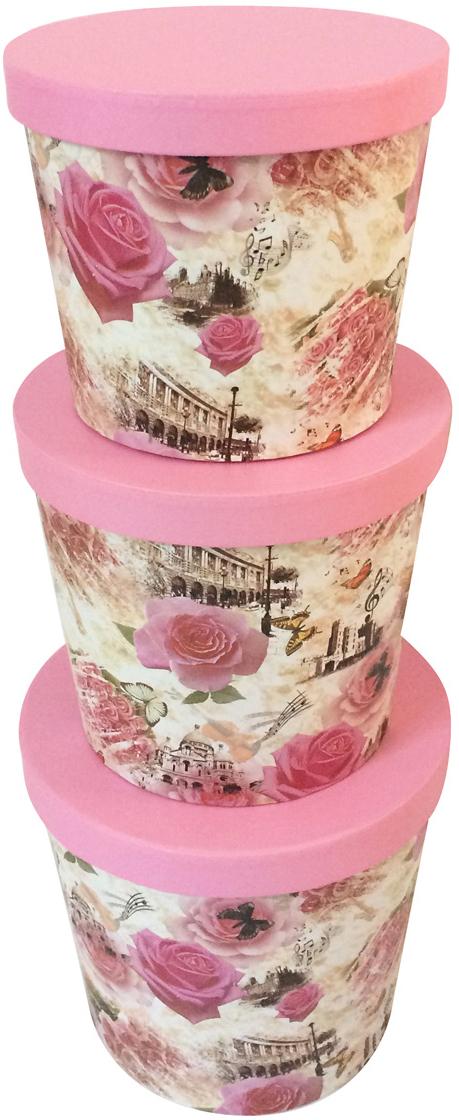 Набор подарочных коробок Veld-Co Розовые, 3 шт набор подарочных коробок veld co шоколад с магнитами цвет светло коричневый 3 шт