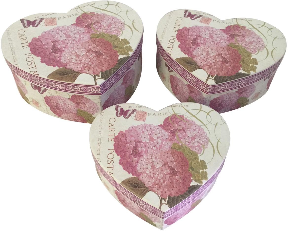 Набор подарочных коробок Veld-Co Сердце. Ароматняа сирень, 3 шт набор подарочных коробок veld co шоколад с магнитами цвет светло коричневый 3 шт