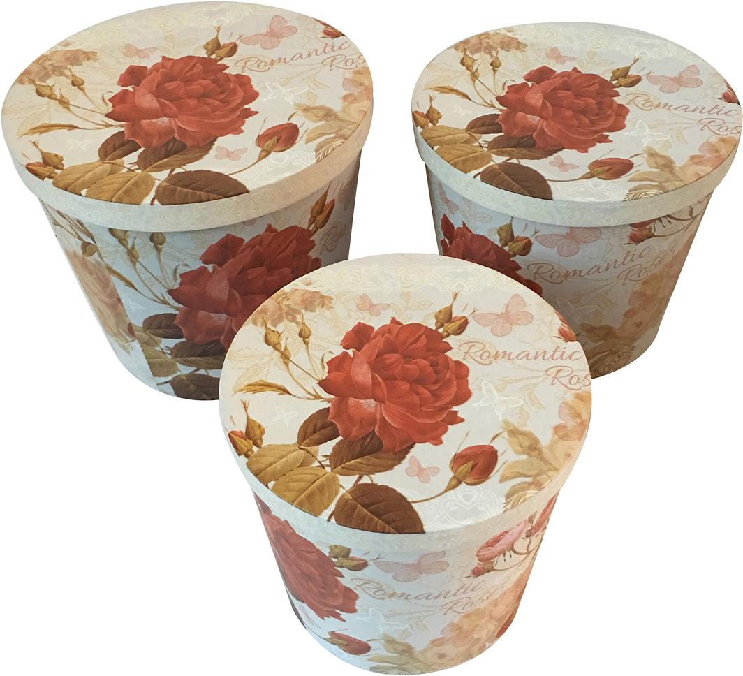 Набор подарочных коробок Veld-Co Дикие розы, 3 шт набор подарочных коробок veld co шоколад с магнитами цвет светло коричневый 3 шт