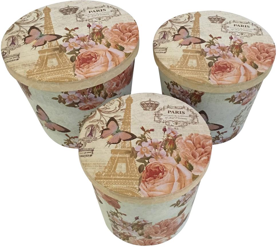 Набор подарочных коробок Veld-Co Нежный Париж, 3 шт набор подарочных коробок veld co шоколад с магнитами цвет светло коричневый 3 шт