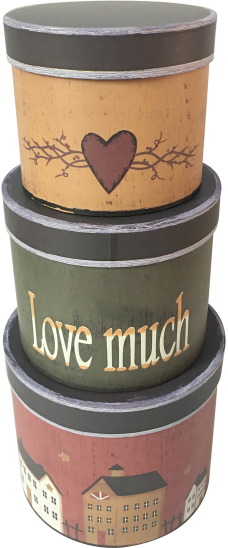 Набор подарочных коробок Veld-Co Love much, 3 шт набор подарочных коробок veld co нежный париж 3 шт