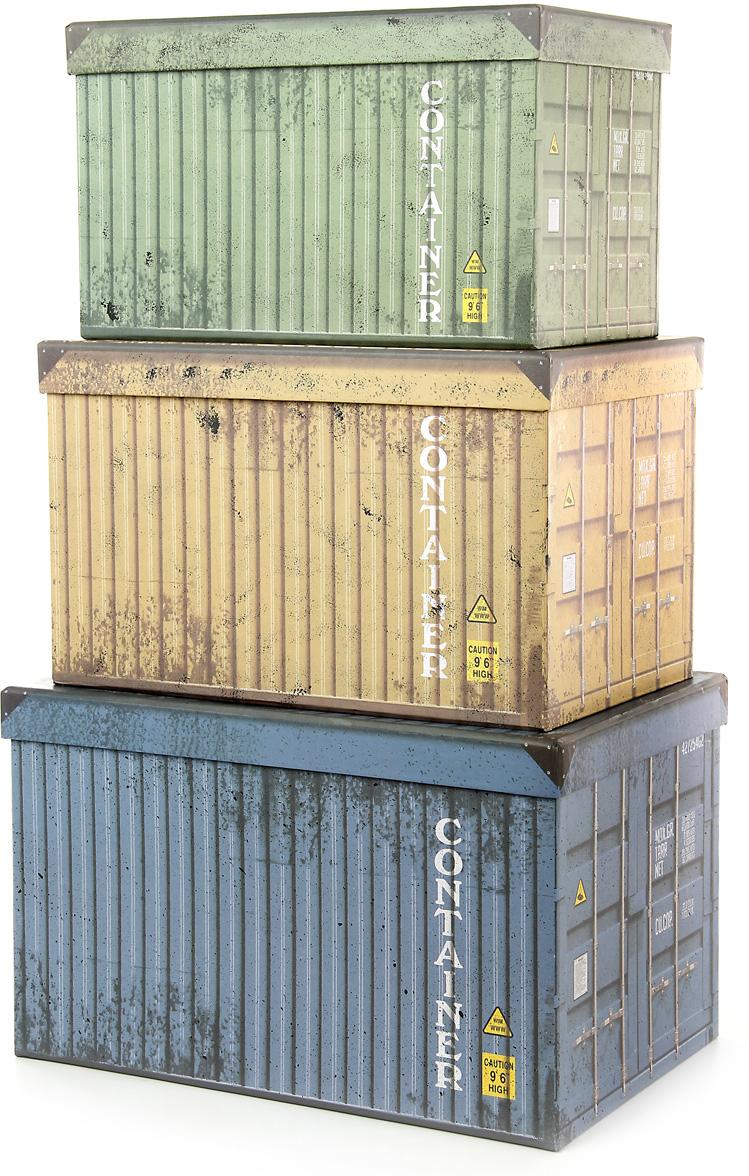 Набор подарочных коробок Veld-Co Контейнеры, прямоугольные, 3 шт набор подарочных коробок veld co морская тематика прямоугольные 5 шт