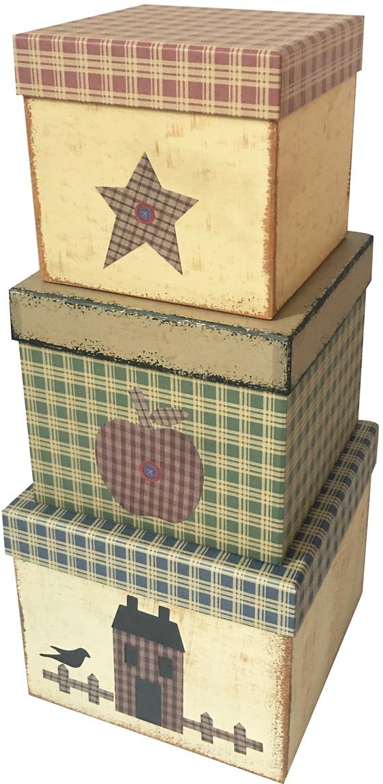Набор подарочных коробок Veld-Co Абстрактный микс, кубы, 3 шт набор подарочных коробок veld co шоколад с магнитами цвет светло коричневый 3 шт