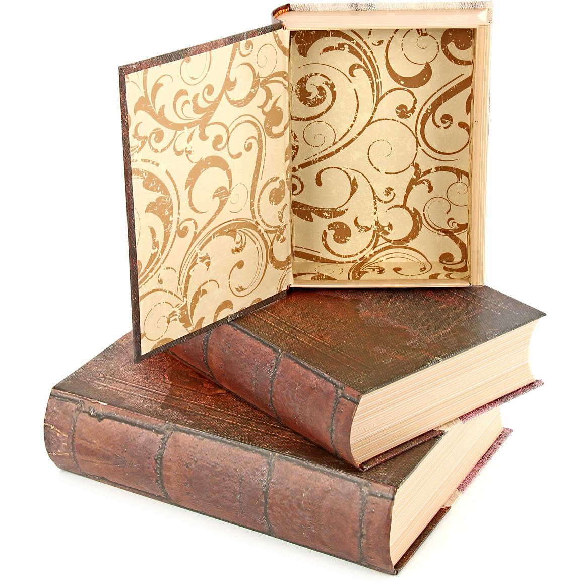 Набор подарочных коробок Veld-Co Старинные книги, 3 шт набор подарочных коробок veld co шоколад с магнитами цвет светло коричневый 3 шт