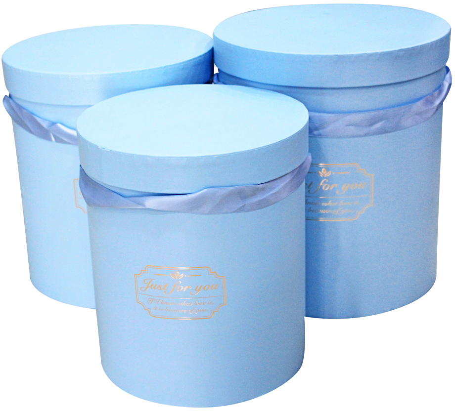 Набор подарочных коробок Veld-Co Цилиндр, для цветов, 3 шт набор подарочных коробок veld co шоколад с магнитами цвет светло коричневый 3 шт