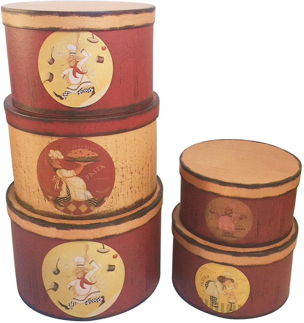 Набор подарочных коробок Veld-Co Французская пекарня, 5 шт набор подарочных коробок veld co морская тематика прямоугольные 5 шт