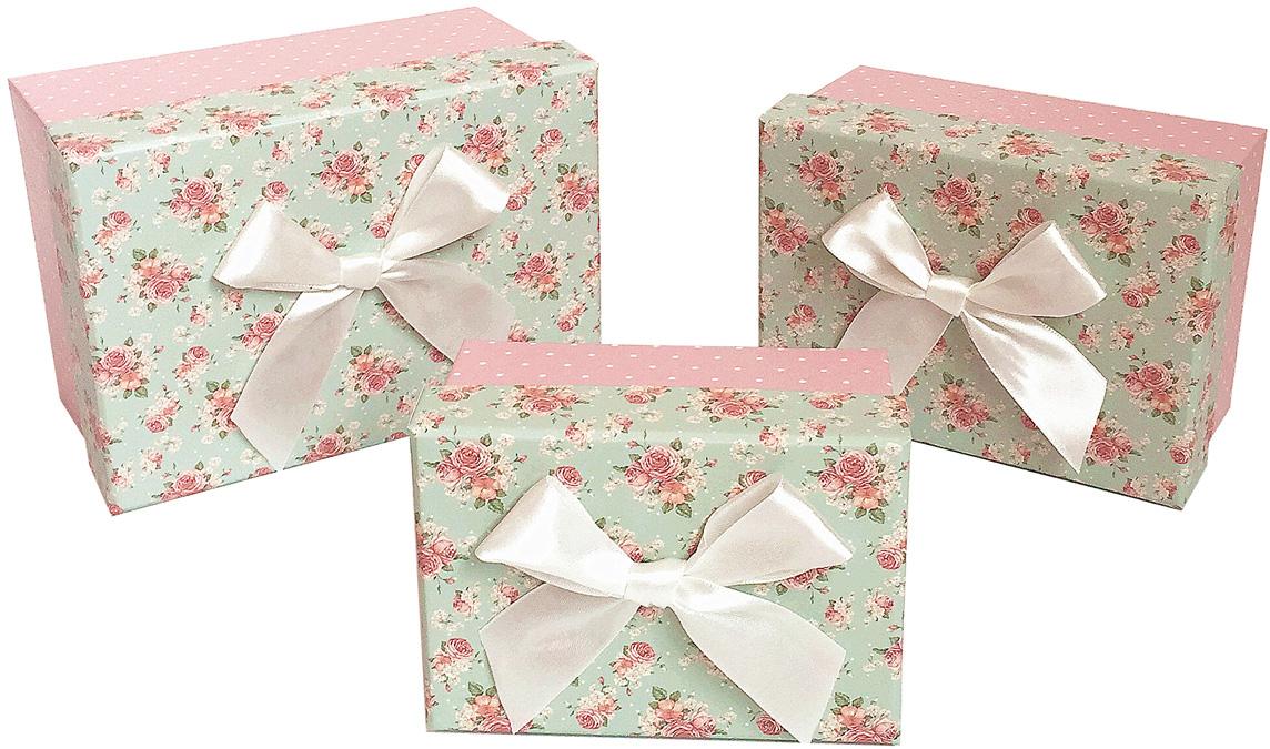 Набор подарочных коробок Veld-Co С бантиком, прямоугольные, 3 шт набор подарочных коробок veld co шоколад с магнитами цвет светло коричневый 3 шт