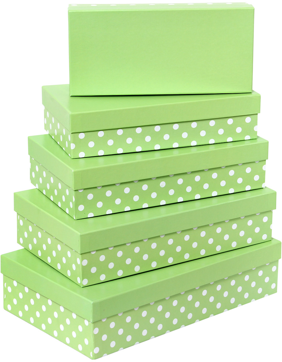 Набор подарочных коробок Veld-Co Белый горошек, прямоугольные, 5 шт54119Подарочные коробки Veld-Co - это наилучшее решение, если выхотите порадовать ваших близких и создать праздничное настроение, ведь подарок, преподнесенный в оригинальной упаковке, всегда будет самым эффектным и запоминающимся. Окружите близких людей вниманием и заботой, вручив презент в нарядном, праздничном оформлении.