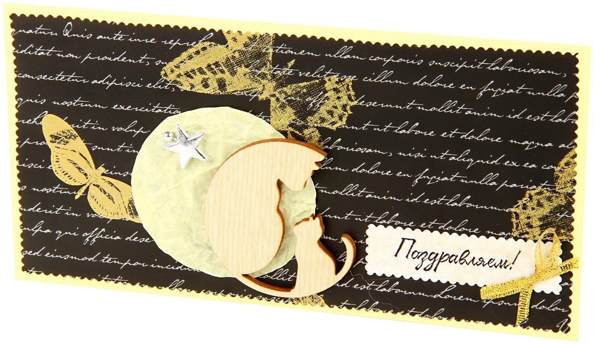 """Конверт для денег """"Veld-Co"""" выполнен из плотной бумаги.   Это необычная красивая одежка для денежного подарка, а также отличная  возможность сделать его более праздничным и создать прекрасное  настроение!   Конверт """"Veld-Co"""" - идеальное решение, если вы  хотите подарить деньги."""