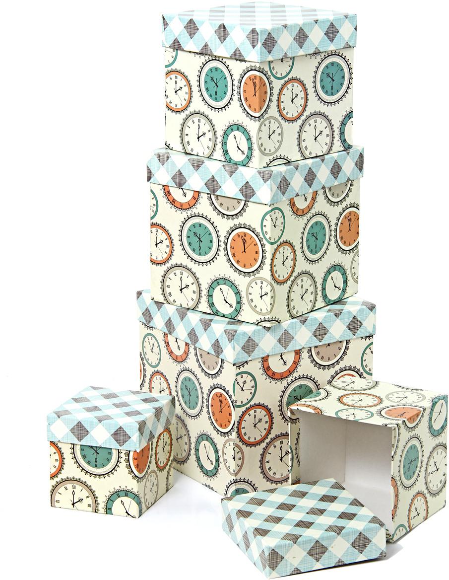 Набор подарочных коробок Veld-Co Часы и ромбы, кубы, 5 шт набор подарочных коробок veld co морская тематика прямоугольные 5 шт