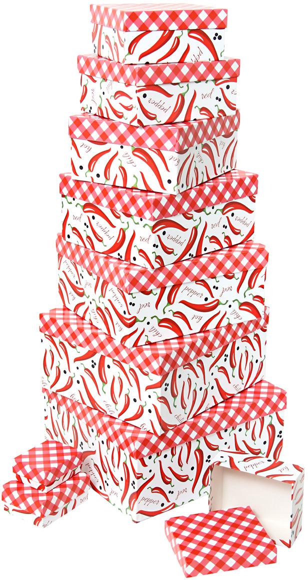 Набор подарочных коробок Veld-Co Перец чили и красные ромбы, 10 шт пляжный зонт no name bu 028