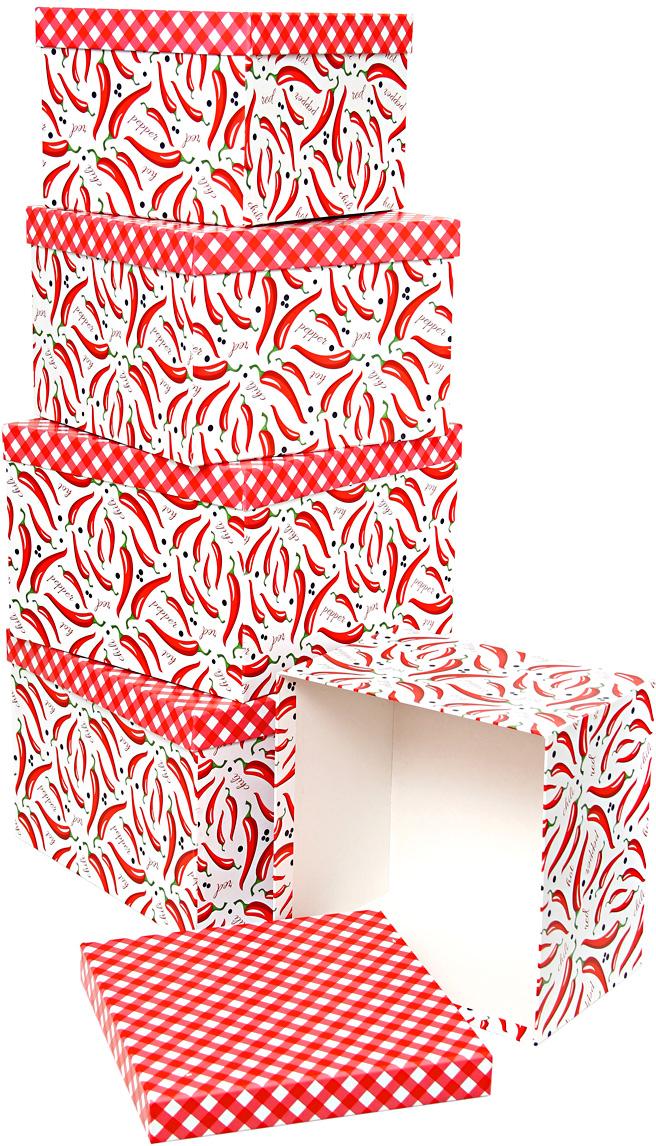 Набор подарочных коробок Veld-Co Котята и абстракция, кубы, большие, 5 шт