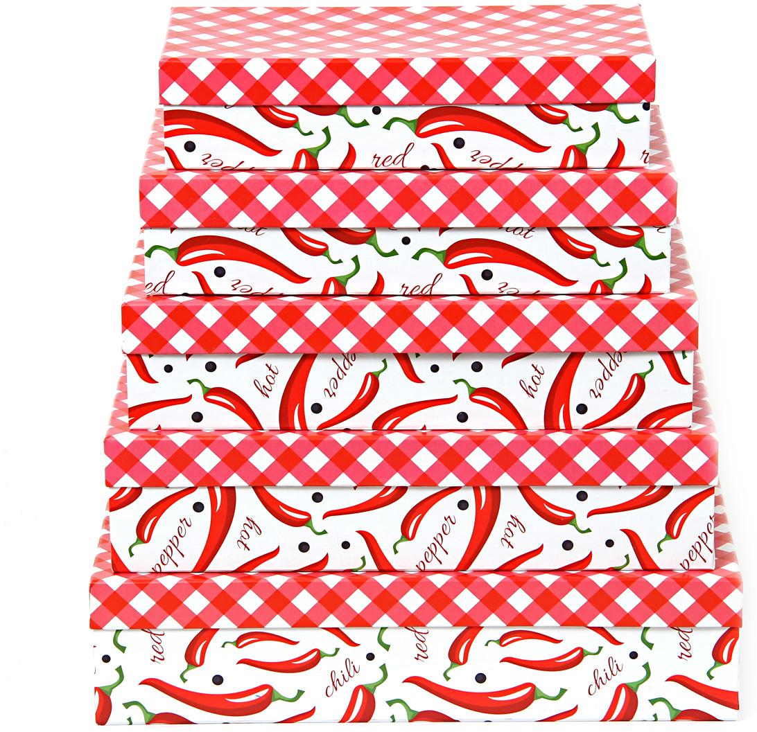Набор подарочных коробок Veld-Co Перец чили и красные ромбы, прямоугольные, 5 шт набор подарочных коробок veld co перец чили и красные ромбы кубы 5 шт