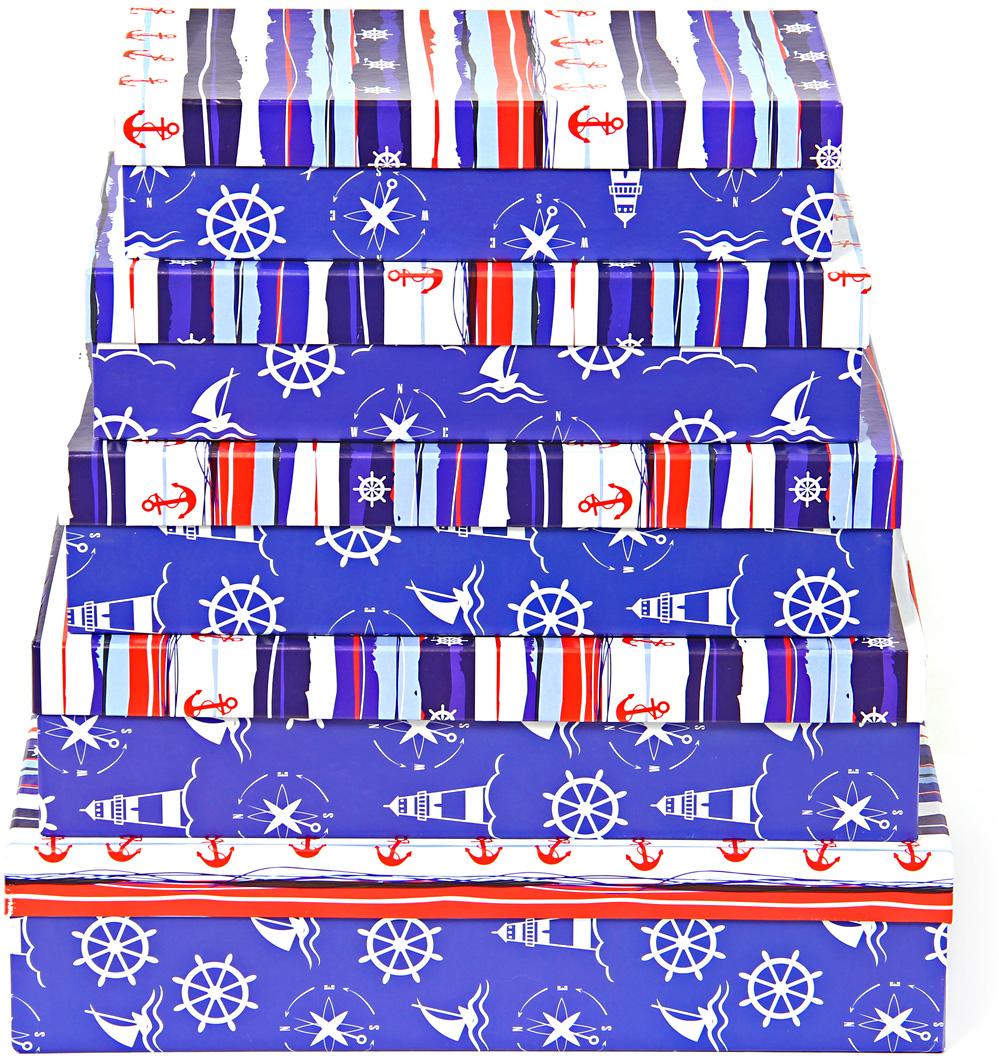 Набор подарочных коробок Veld-Co Морская тематика, прямоугольные, 5 шт набор подарочных коробок veld co морская тематика прямоугольные 5 шт