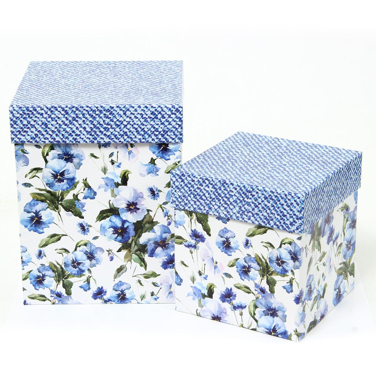 Набор подарочных коробок Veld-Co Цветы и джинс, под кружку, 2 шт набор подарочных коробок veld co грезы путешественника 11 шт