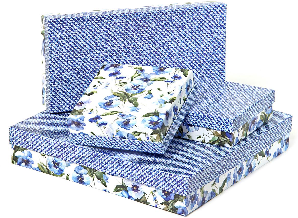 Набор подарочных коробок Veld-Co Цветы и джинс, 4 шт набор подарочных коробок veld co грезы путешественника 11 шт