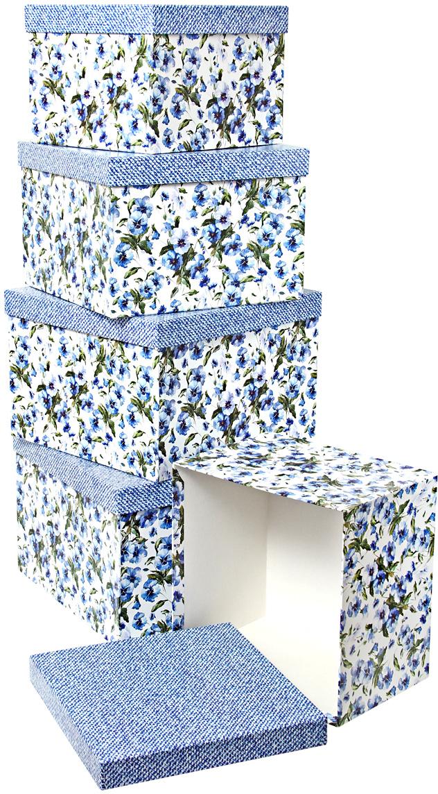 Набор подарочных коробок Veld-Co Цветы и джинс, кубы, 5 шт veld co набор инструментов 43896