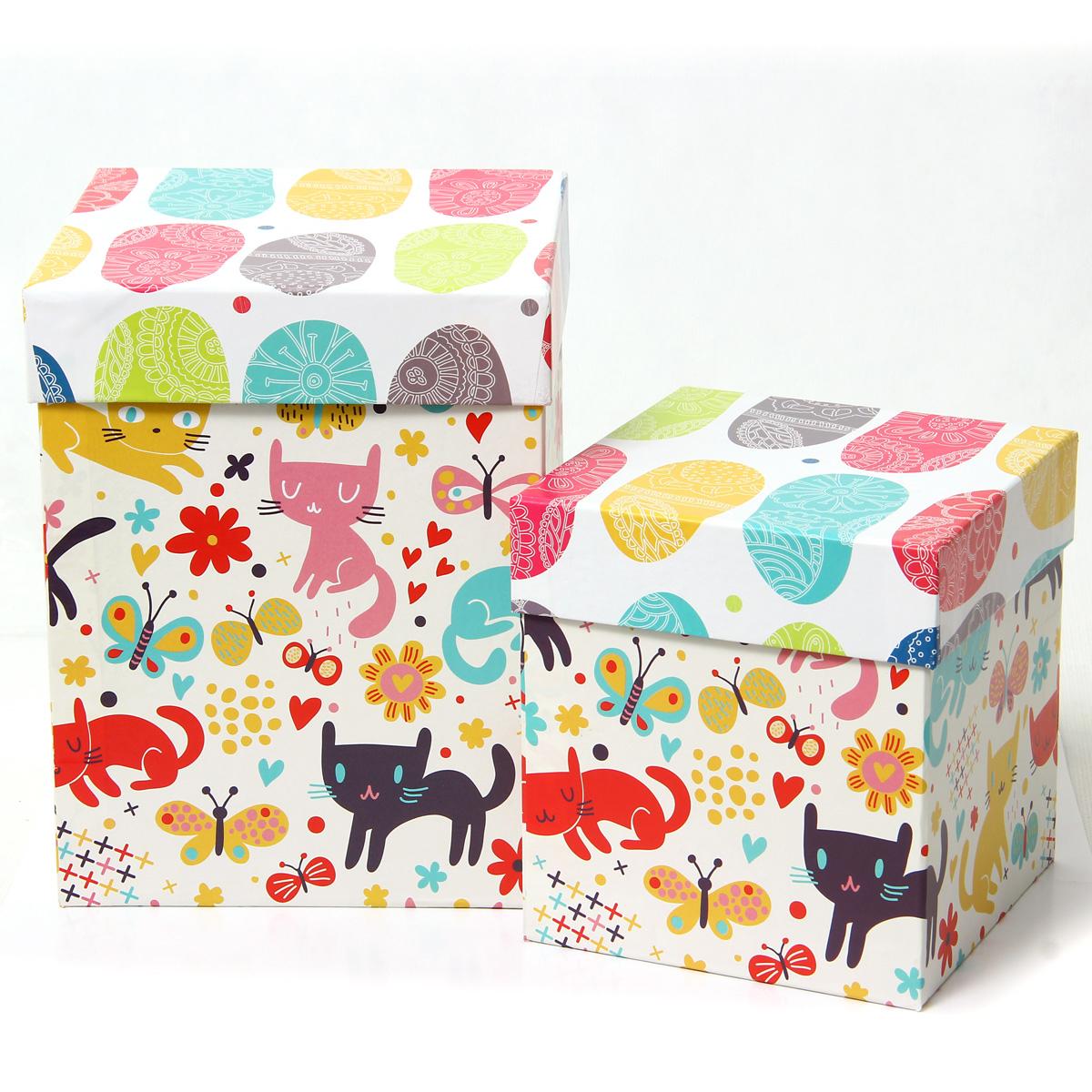 Набор подарочных коробок Veld-Co Котята и абстракция, под кружку, 2 шт набор подарочных коробок veld co котята и абстракция прямоугольные 5 шт