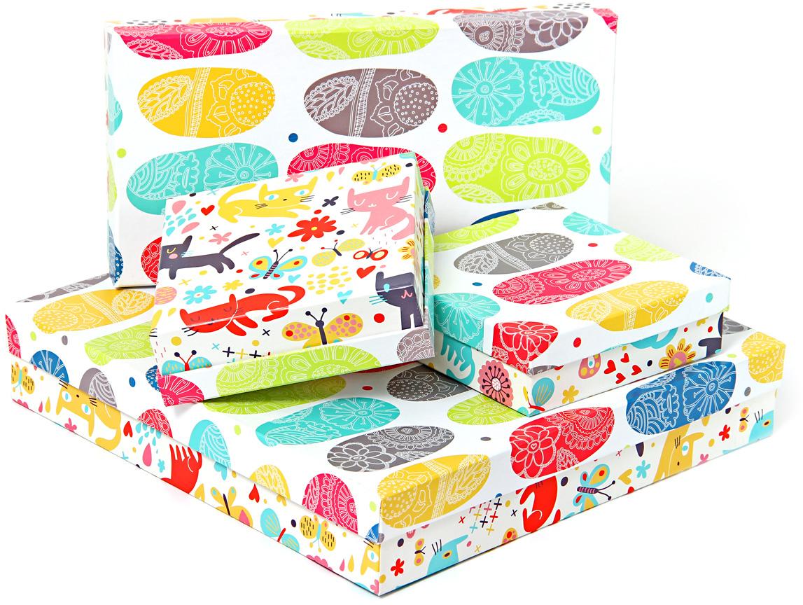 Набор подарочных коробок Veld-Co Котята и абстракция, 4 шт набор подарочных коробок veld co котята и абстракция 4 шт