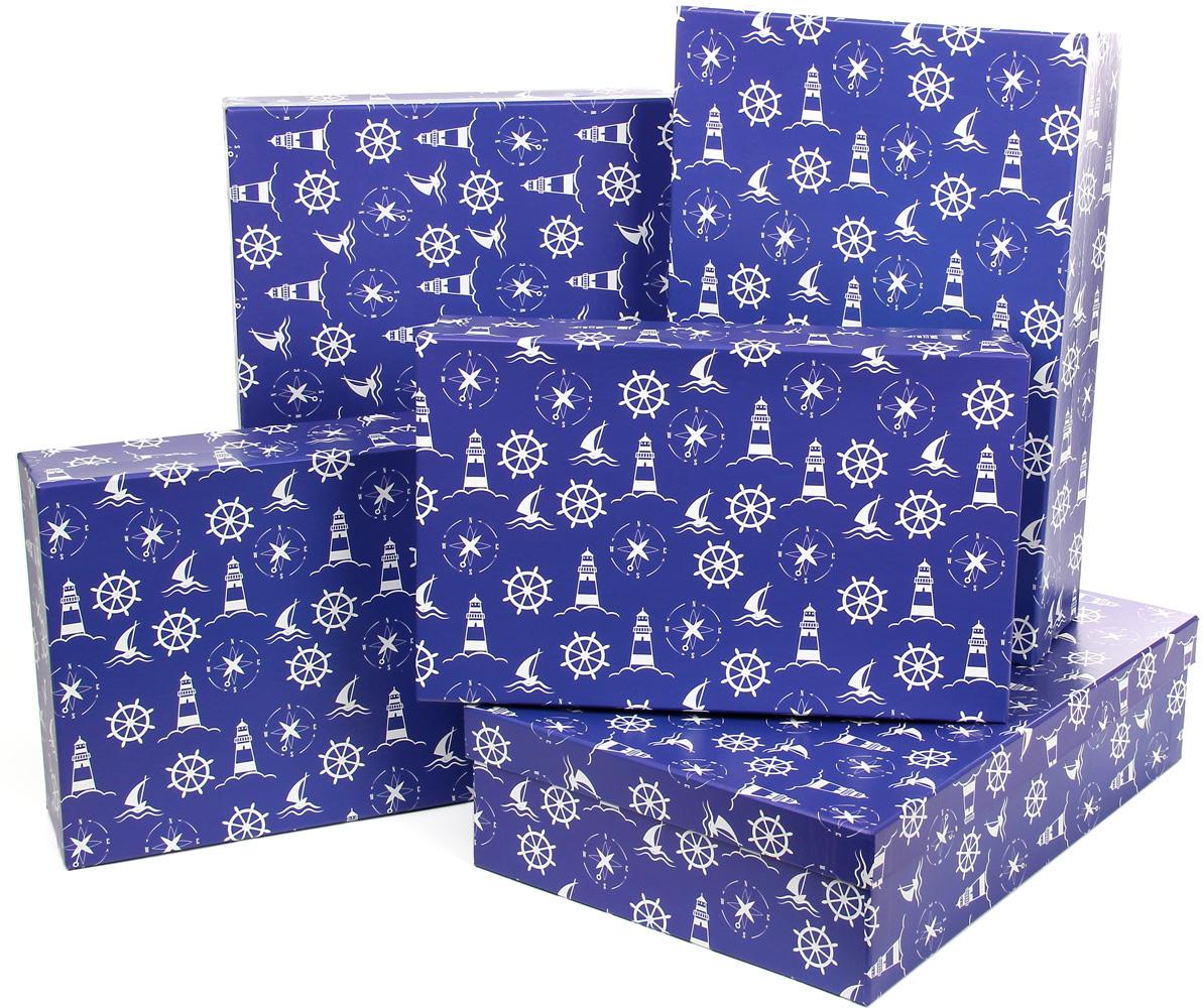 Набор подарочных коробок Veld-Co Морская тематика 1, прямоугольные, 5 шт набор подарочных коробок veld co грезы путешественника 11 шт