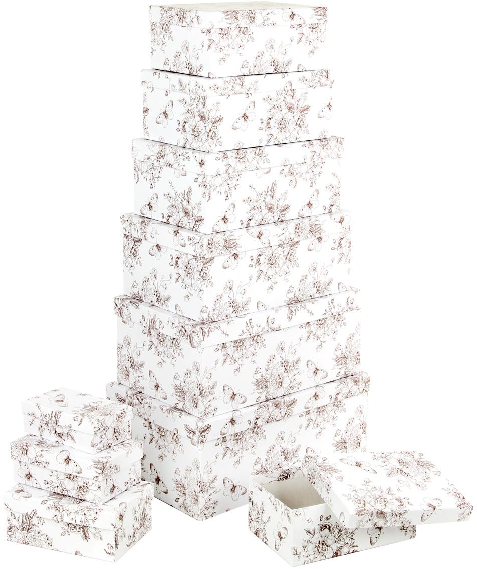 Набор подарочных коробок Veld-Co Мадам Баттерфляй, прямоугольные, 10 шт набор подарочных коробок veld co морская тематика прямоугольные 5 шт