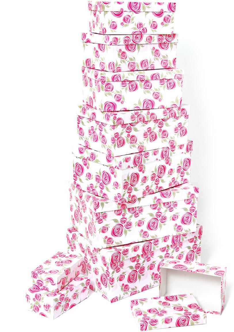 Набор подарочных коробок Veld-Co Розовая графика, прямоугольные, 10 шт набор подарочных коробок veld co морская тематика прямоугольные 5 шт