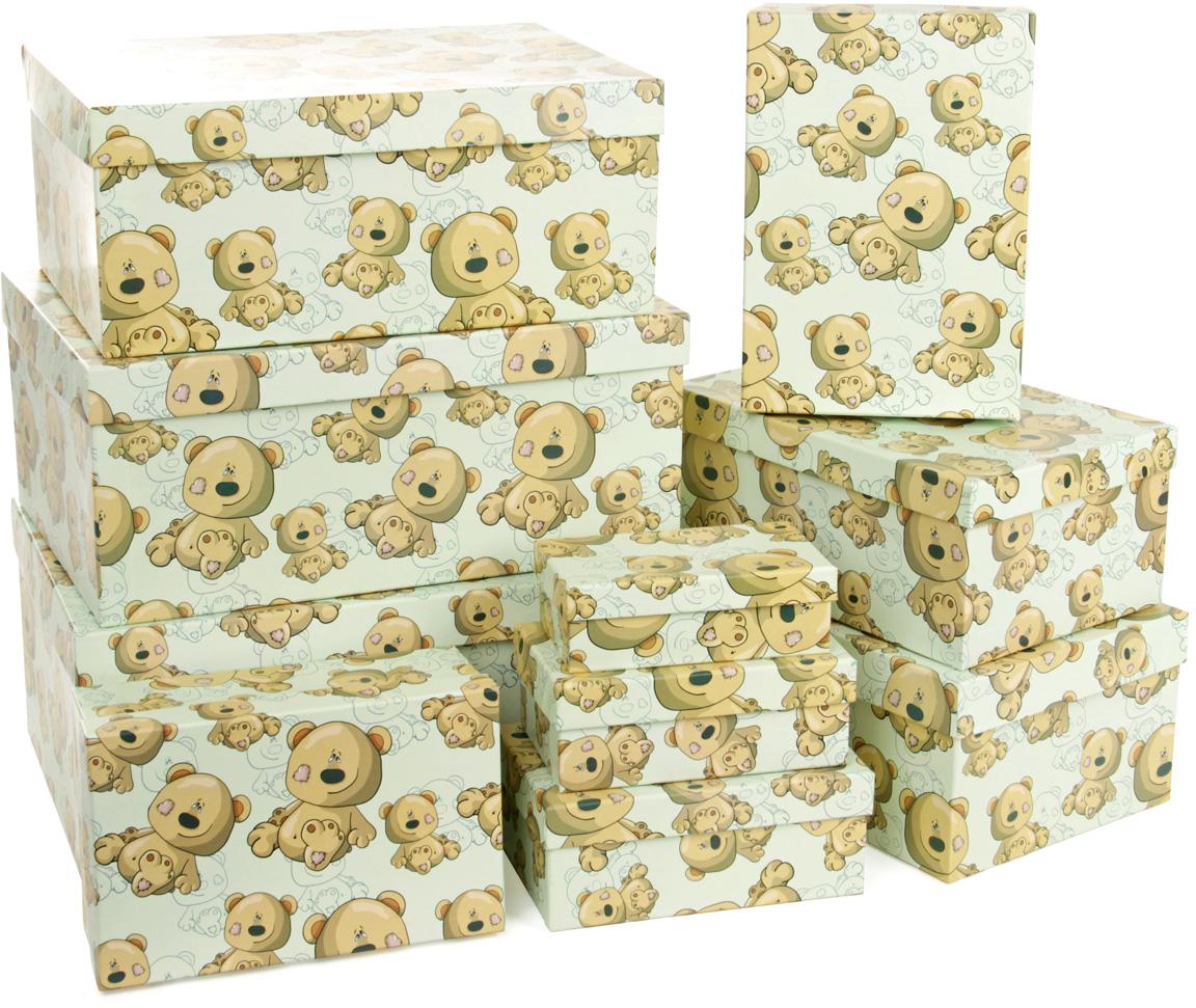 Набор подарочных коробок Veld-Co Плюшевый улыбака, прямоугольные, 10 шт набор подарочных коробок veld co морская тематика прямоугольные 5 шт