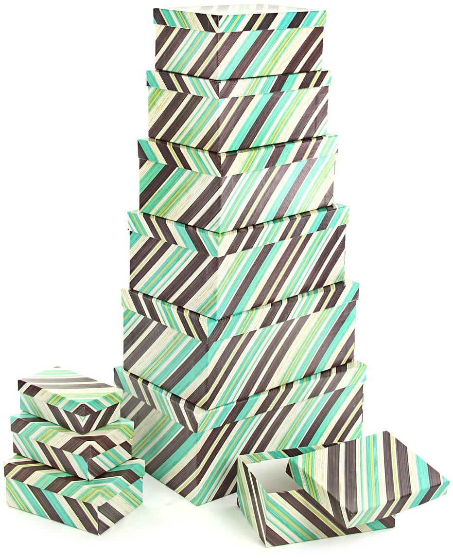 Набор подарочных коробок Veld-Co Полосатое настроение, прямоугольные, 10 шт набор подарочных коробок veld co морская тематика прямоугольные 5 шт