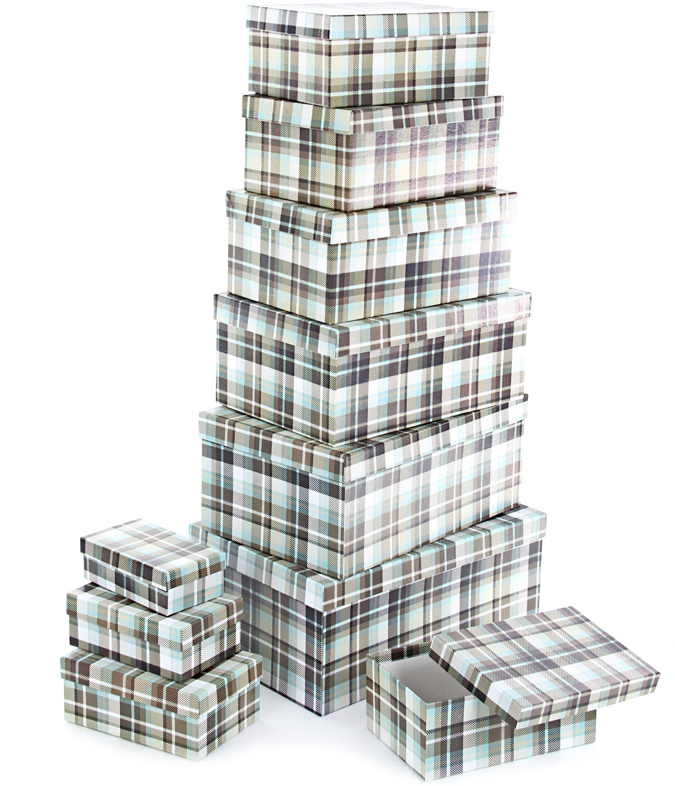Набор подарочных коробок Veld-Co Уютный плед, прямоугольные, 10 шт57528Подарочные коробки Veld-Co - это наилучшее решение, если выхотите порадовать ваших близких и создать праздничное настроение, ведь подарок, преподнесенный в оригинальной упаковке, всегда будет самым эффектным и запоминающимся. Окружите близких людей вниманием и заботой, вручив презент в нарядном, праздничном оформлении.