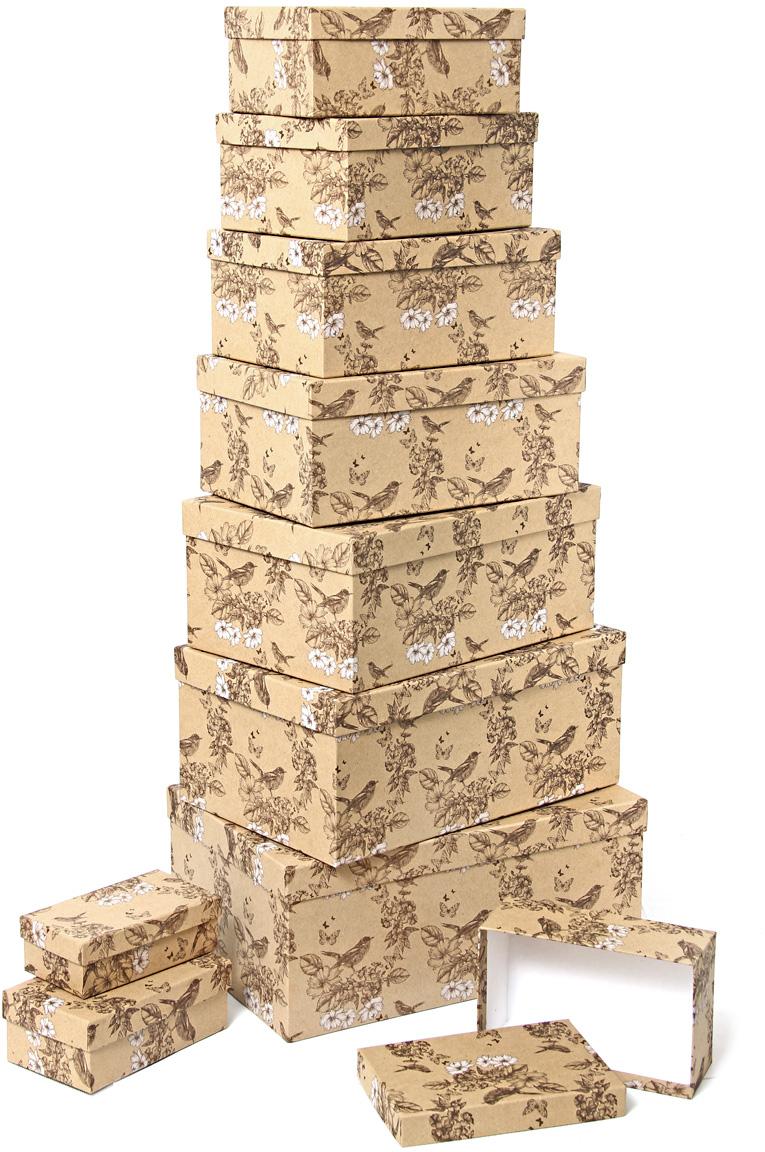 Набор подарочных коробок Veld-Co Гимн весне, прямоугольные, 10 шт набор подарочных коробок veld co морская тематика прямоугольные 5 шт