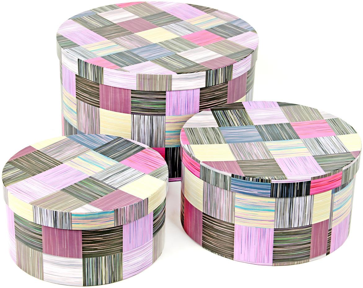 Набор подарочных коробок Veld-Co Сиреневое сияние, круглые, 3 шт набор подарочных коробок veld co ирисы круглые 3 шт