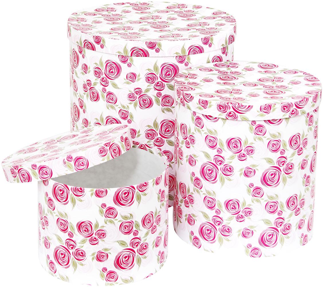 Набор подарочных коробок Veld-Co Розовая графика, круглые, высокие, 3 шт набор подарочных коробок veld co гимн весне круглые высокие 3 шт