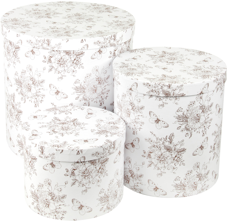 Набор подарочных коробок Veld-Co Мадам Баттерфляй, круглые, 3 шт набор подарочных коробок veld co ирисы круглые 3 шт