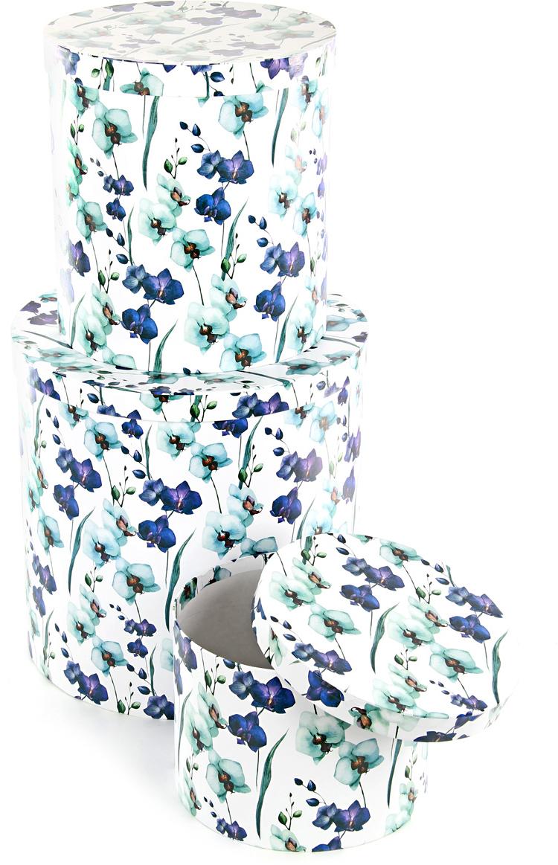 Набор подарочных коробок Veld-Co Ирисы, круглые, 3 шт набор подарочных коробок veld co шоколад с магнитами цвет светло коричневый 3 шт
