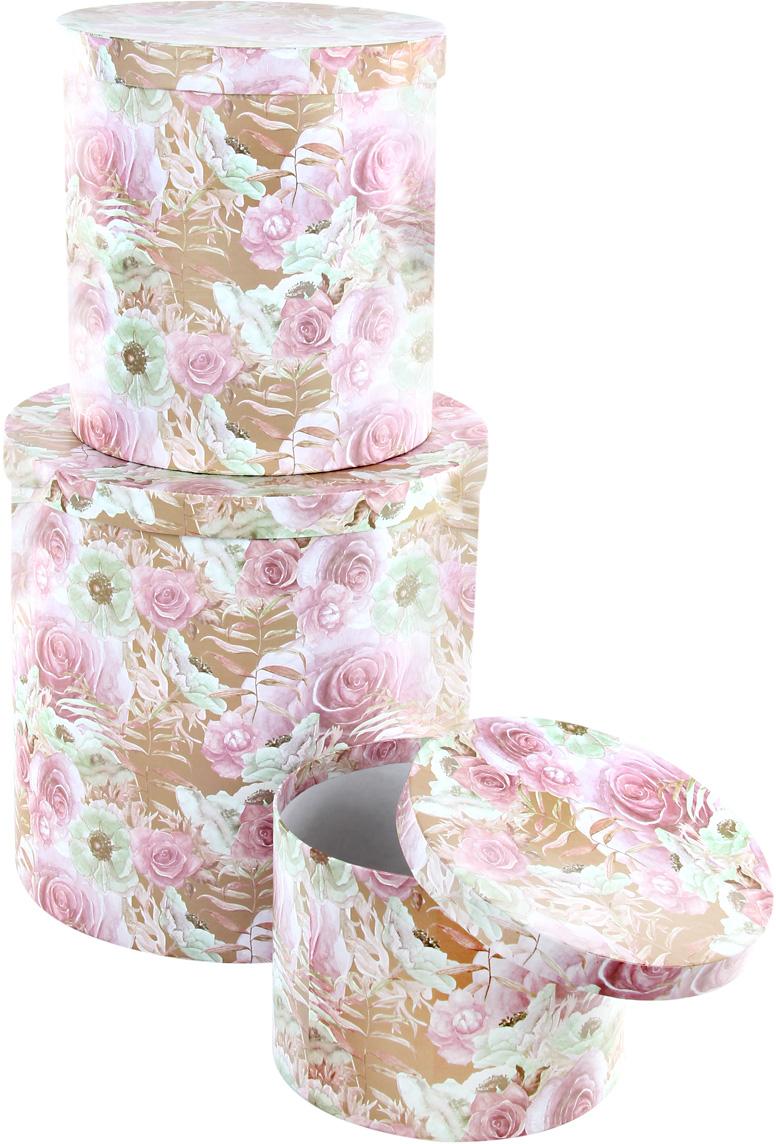 Набор подарочных коробок Veld-Co Эльфийский сад, круглые, высокие, 3 шт набор подарочных коробок veld co шоколад с магнитами цвет светло коричневый 3 шт