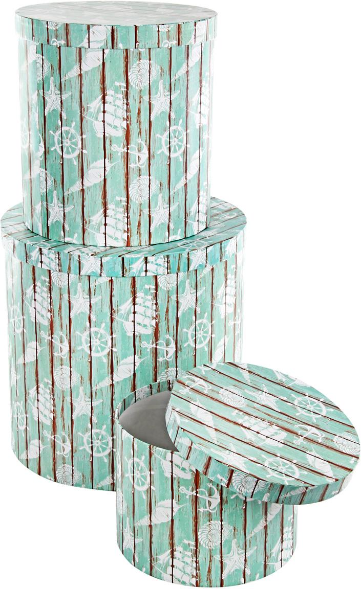 Набор подарочных коробок Veld-Co Грезы путешественника, круглые, 3 шт набор подарочных коробок veld co шоколад с магнитами цвет светло коричневый 3 шт