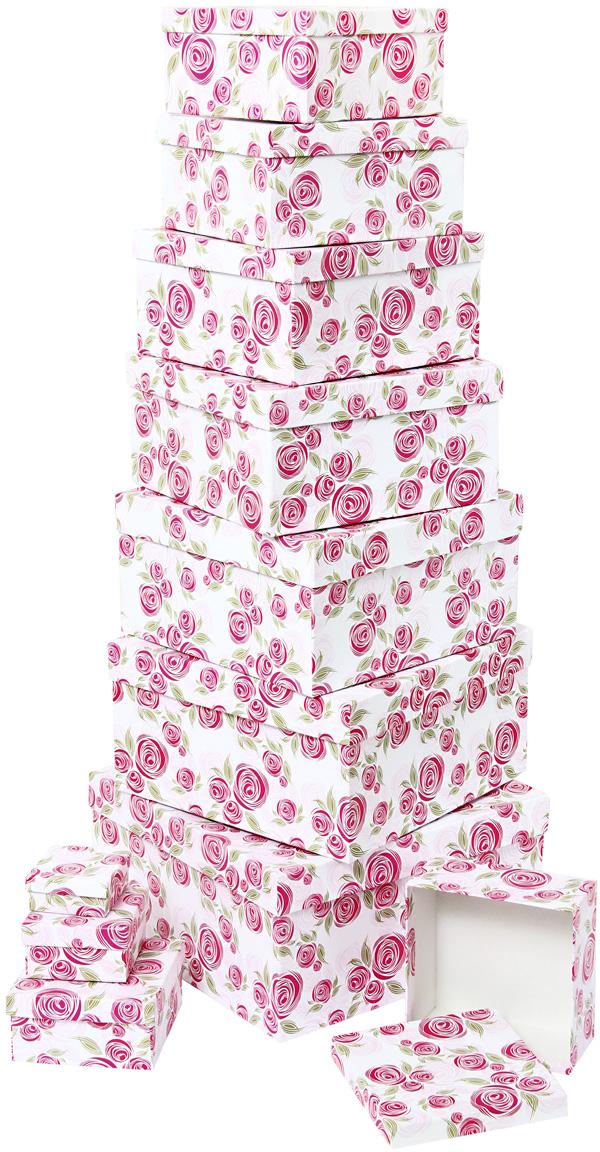 Набор подарочных коробок Veld-Co Розовая графика, 11 шт57556Подарочные коробки Veld-Co - это наилучшее решение, если выхотите порадовать ваших близких и создать праздничное настроение, ведь подарок, преподнесенный в оригинальной упаковке, всегда будет самым эффектным и запоминающимся. Окружите близких людей вниманием и заботой, вручив презент в нарядном, праздничном оформлении.