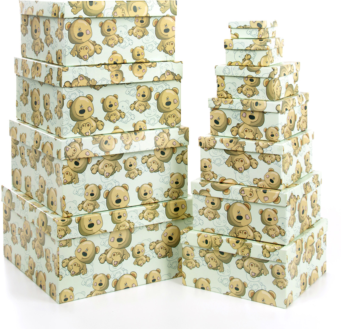 Набор подарочных коробок Veld-Co Плюшевый улыбака, 11 шт57557Подарочные коробки Veld-Co - это наилучшее решение, если выхотите порадовать ваших близких и создать праздничное настроение, ведь подарок, преподнесенный в оригинальной упаковке, всегда будет самым эффектным и запоминающимся. Окружите близких людей вниманием и заботой, вручив презент в нарядном, праздничном оформлении.