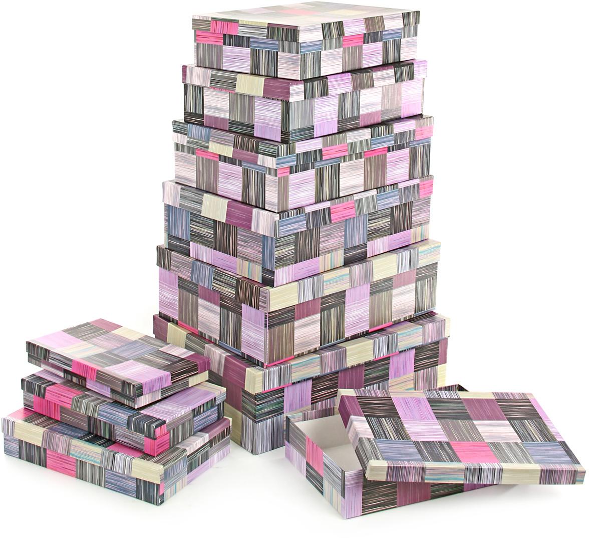 Набор подарочных коробок Veld-Co Сиреневое сияние, 10 шт57566Подарочные коробки Veld-Co - это наилучшее решение, если вы хотите порадовать вашихблизких и создать праздничное настроение, ведь подарок, преподнесенный воригинальной упаковке, всегда будет самым эффектным и запоминающимся.Окружите близких людей вниманием и заботой, вручив презент в нарядном,праздничном оформлении.